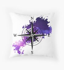 compass to space Throw Pillow