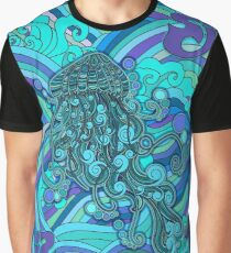 SCI - String Cheese Incident - Psychedelic Jellyfish Jelly Fish Ocean of My Brain To Much Tequila Graphic T-Shirt
