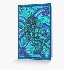 SCI - String Cheese Incident - Psychedelic Jellyfish Jelly Fish Ocean of My Brain To Much Tequila Greeting Card