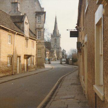 Church Street, Corsham, leading to St Bartholomews c. 1984 by obadiah