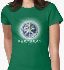 PEACE ON EARTHDAY Womens Fitted T-Shirt
