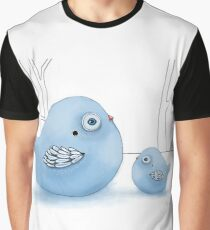 Blue Birds of Happiness Graphic T-Shirt