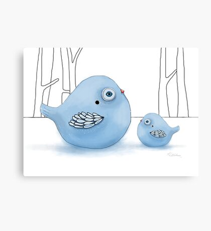 Blue Birds of Happiness Canvas Print