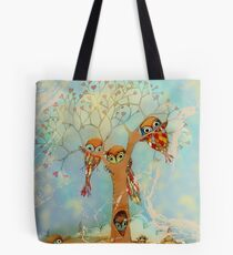 tree of love owls Tote Bag
