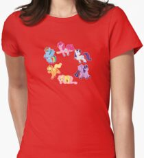 Squishie Mane 6 Womens Fitted T-Shirt