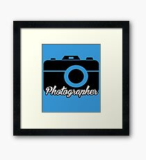 Photographer Framed Print