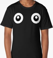 Scared Cartoon Eyes in the Dark Long T-Shirt