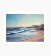 South to Middle Rock Beach Art Print