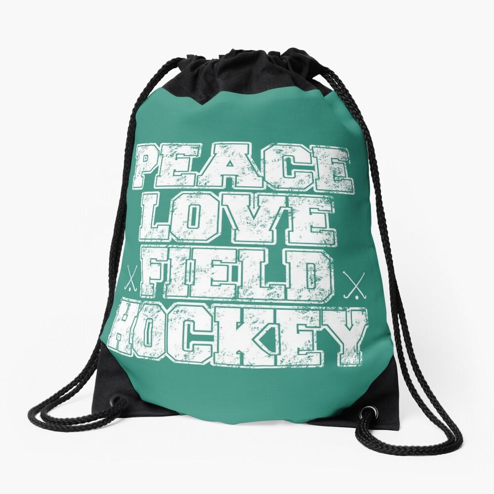 Peace Love Field Hockey Mochila saco