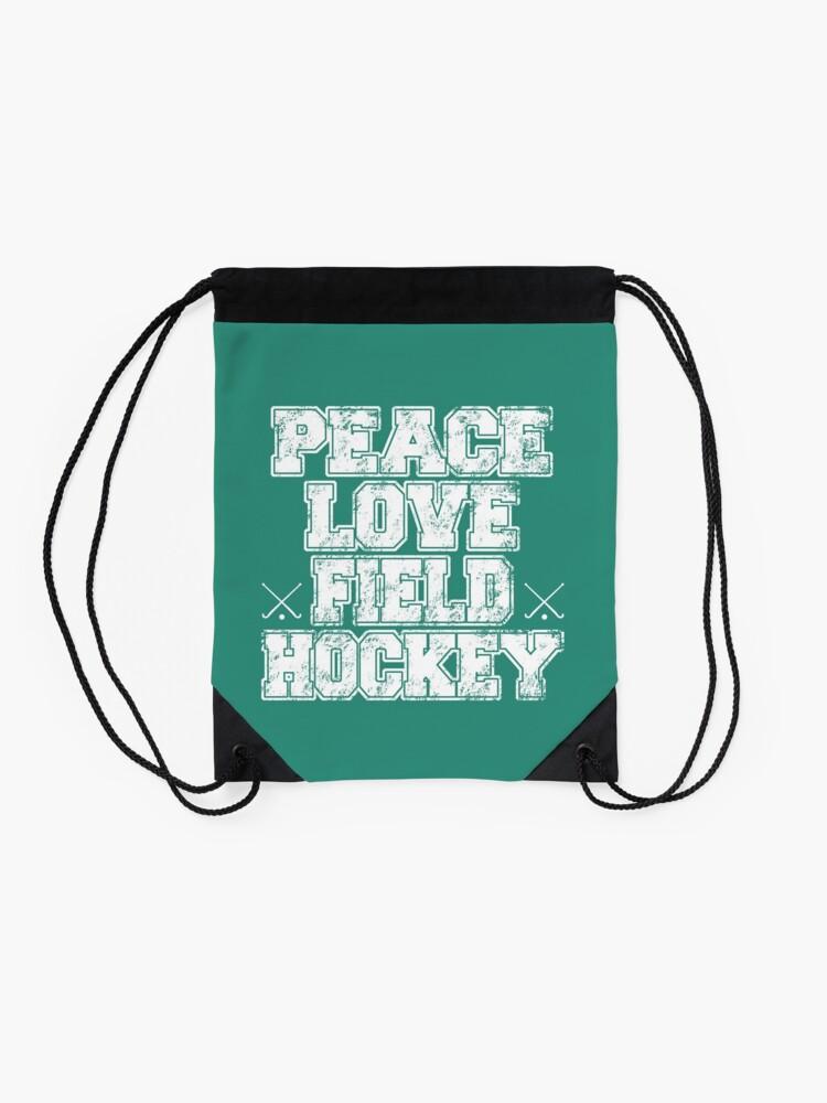 Vista alternativa de Mochila saco Peace Love Field Hockey