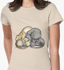 Sleeping Pile of Pet Rats Womens Fitted T-Shirt