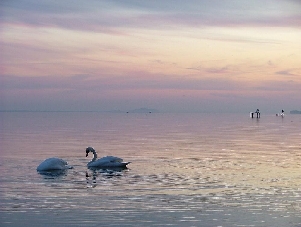 Sunset at Lake Balaton by Clare Blackman
