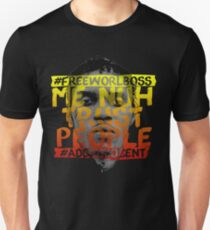 NUH TRUST PEOPLE #FREEWORLBOSS (YELLOW-RED) Unisex T-Shirt