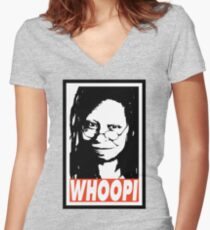 WHOOPI Women's Fitted V-Neck T-Shirt