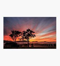 Lambs Valley colourful sunrise Photographic Print