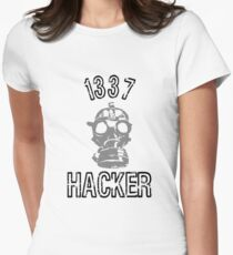 "1337 ""Elite"" Hacker  Womens Fitted T-Shirt"