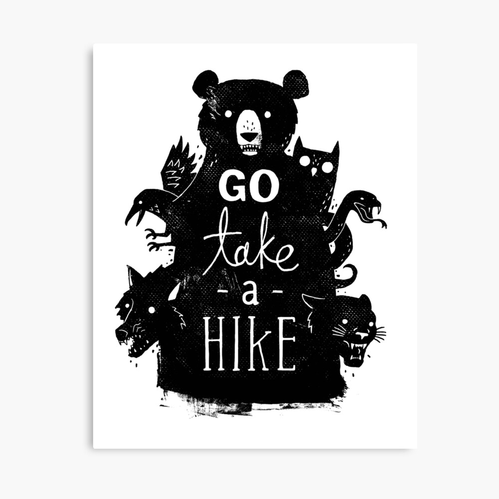 Go Take A Hike Canvas Print