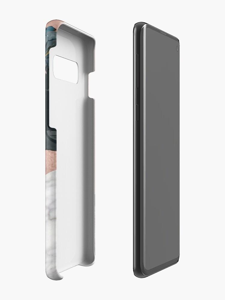 Alternative Ansicht von Floral Marmor Roségold Hülle & Klebefolie für Samsung Galaxy