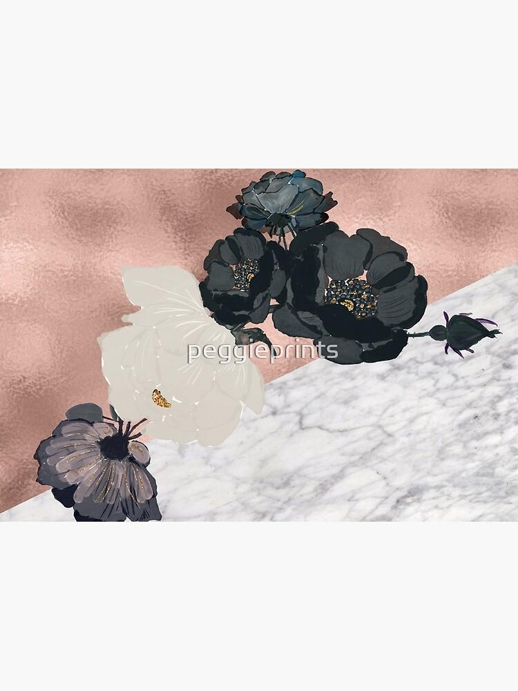 Floral Marmor Roségold von peggieprints
