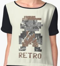 Mario Retro Women's Chiffon Top