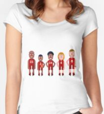 basketball Team Women's Fitted Scoop T-Shirt