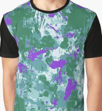 Bright Grunge in Purple Graphic T-Shirt