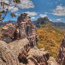 Ruined Castle In The Blue Mountains by Michael Matthews