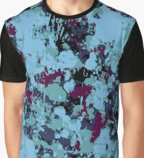 Bright Grunge in Blue Graphic T-Shirt