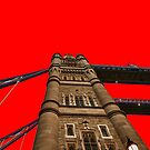 Tower Bridge - Red by Lea Valley Photographic