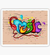 Music Graffiti  Sticker