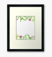 Watercolor greenery Framed Print
