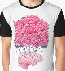 Creative Brains with peonies  Graphic T-Shirt