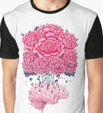 Camiseta gráfica Creative Brains with peonies