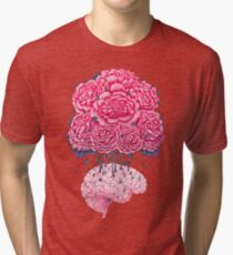 Creative Brains with peonies  Tri-blend T-Shirt