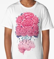 Creative Brains with peonies  Long T-Shirt