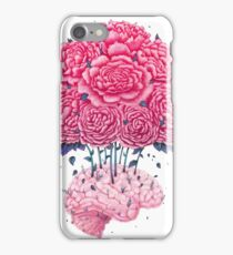 Creative Brains with peonies  iPhone Case/Skin