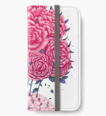 Creative Brains with peonies  iPhone Wallet/Case/Skin