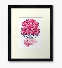 Creative Brains with peonies  Framed Print