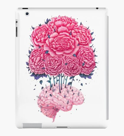 Creative Brains with peonies  iPad Case/Skin