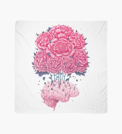 Creative Brains with peonies  Scarf