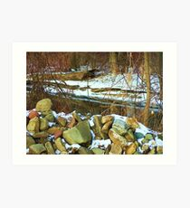 Stone Cold Creek Bank Art Print