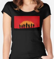 Red Style Dead 2 Women's Fitted Scoop T-Shirt