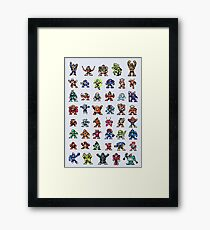 MegaMan 1to6 Robot Masters Framed Print