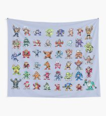 MegaMan 1to6 Robot Masters Wall Tapestry