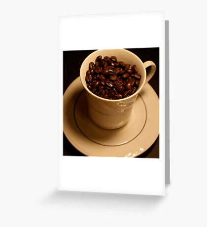 Cup of Coffee - Black Greeting Card