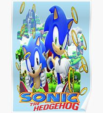 Sonic The Hedgehog T Shirt  Poster