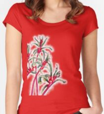 Mangles Kangaroo Paw (closeup) Women's Fitted Scoop T-Shirt