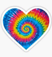 Tie Dye Heart Sticker