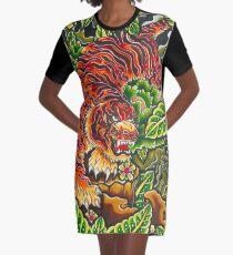 japanese tiger Graphic T-Shirt Dress