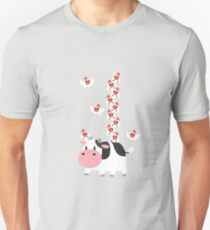 Cow and Chickens Unisex T-Shirt